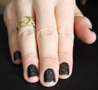 Black Gold! Dark Nails Get a Sparkling Update