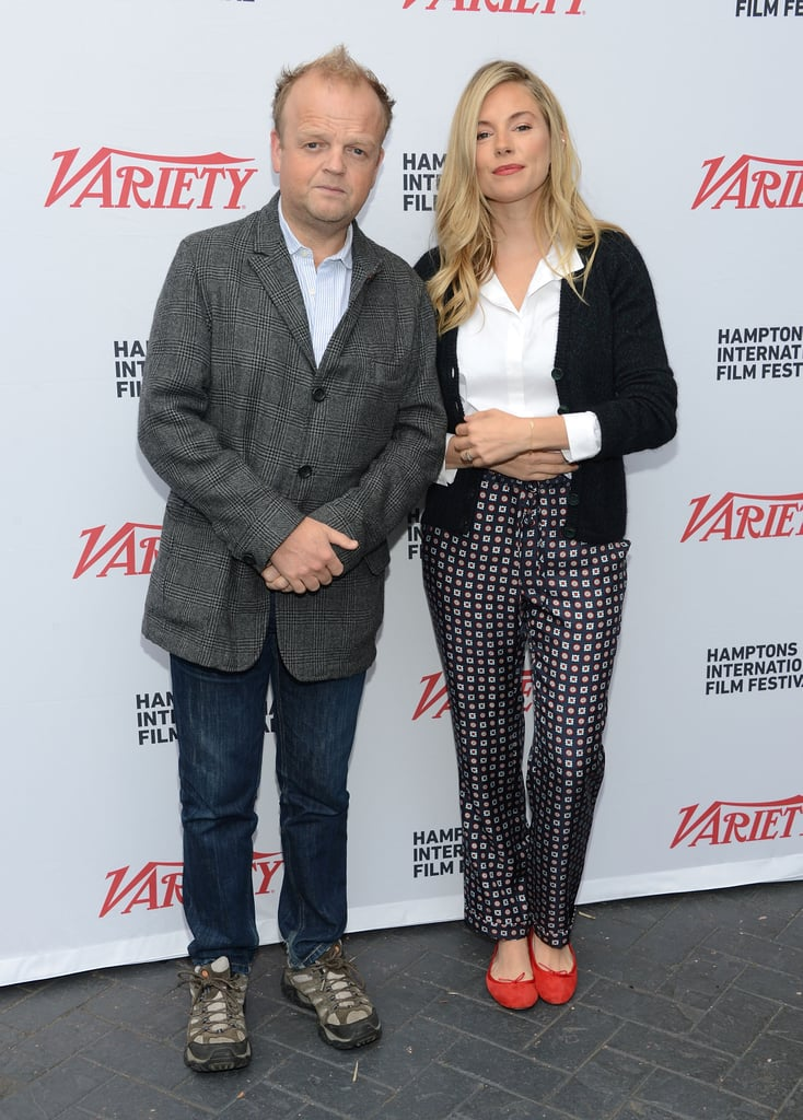 Sienna Miller linked up with Toby Jones at the Hamptons International Film Festival.