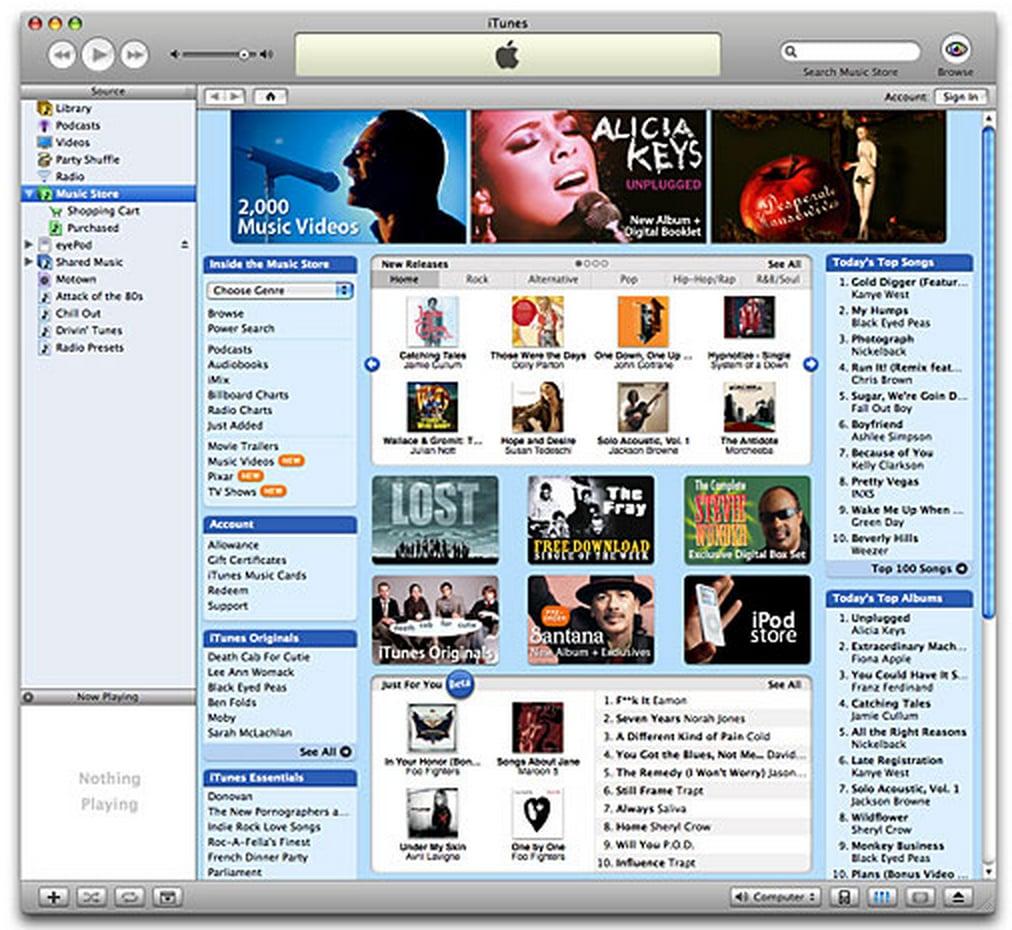 2003: iTunes Store