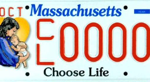 Massachusetts Choose Life License Plates