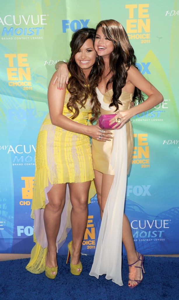 """Demi Lovato and Selena Gomez's friendship started more than 10 years ago when they auditioned for Barney together. Demi has said that she's """"very lucky to have someone like Selena in my life."""""""