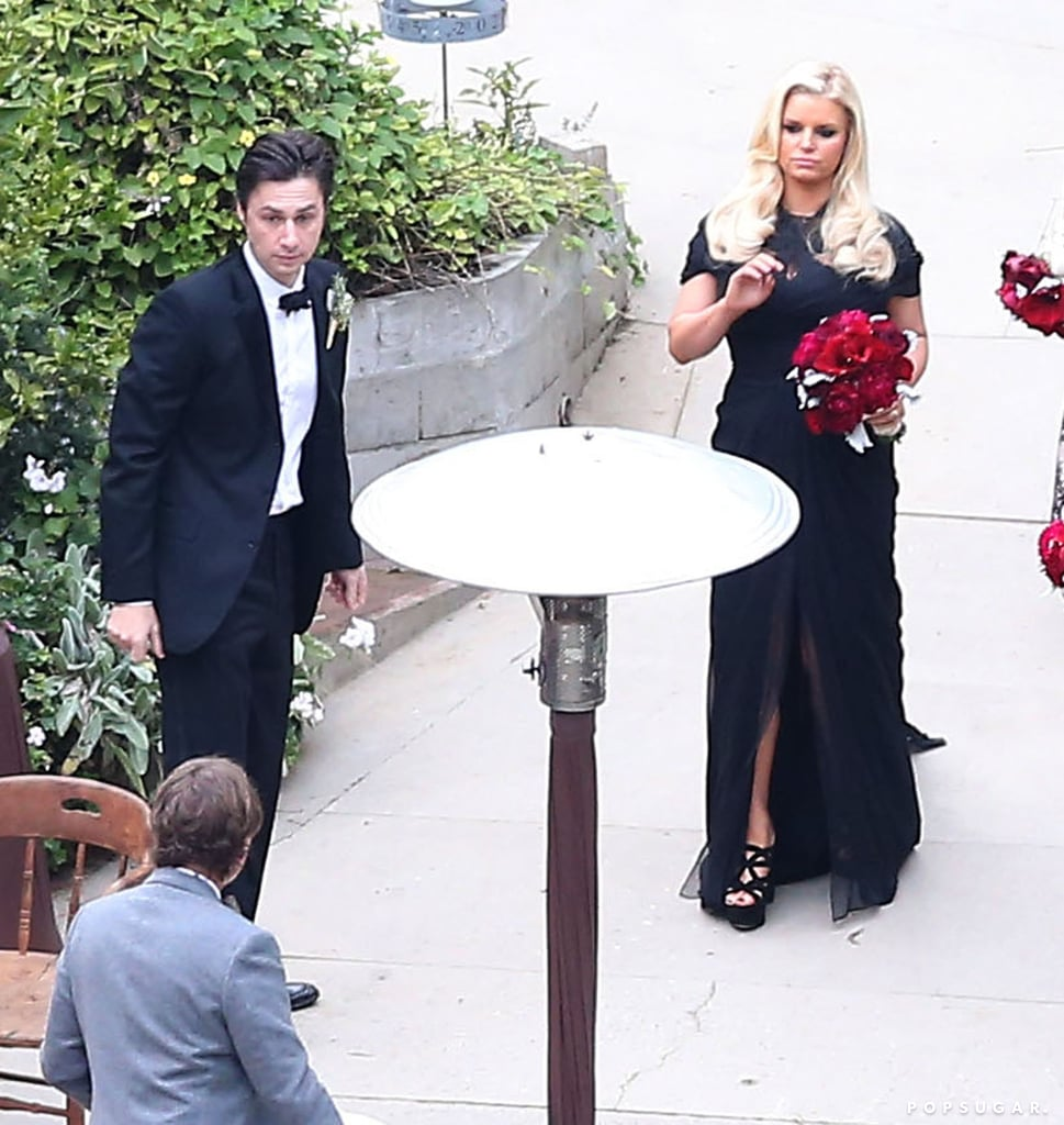 In 2012, Jessica Simpson and Zach Braff made an appearance at CaCee Cobb's wedding to Donald Faison in LA in December 2012.
