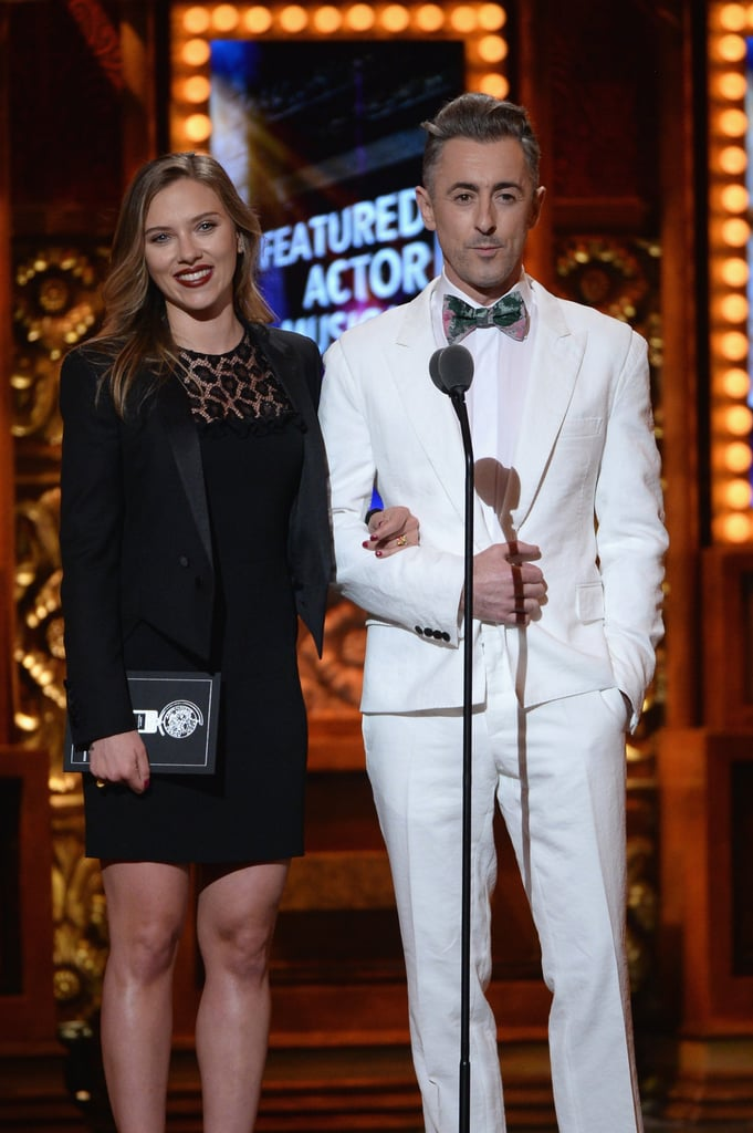 Scarlett Johansson and Alan Cumming took to the stage at the 67th Annual Tony Awards in New York on June 9.