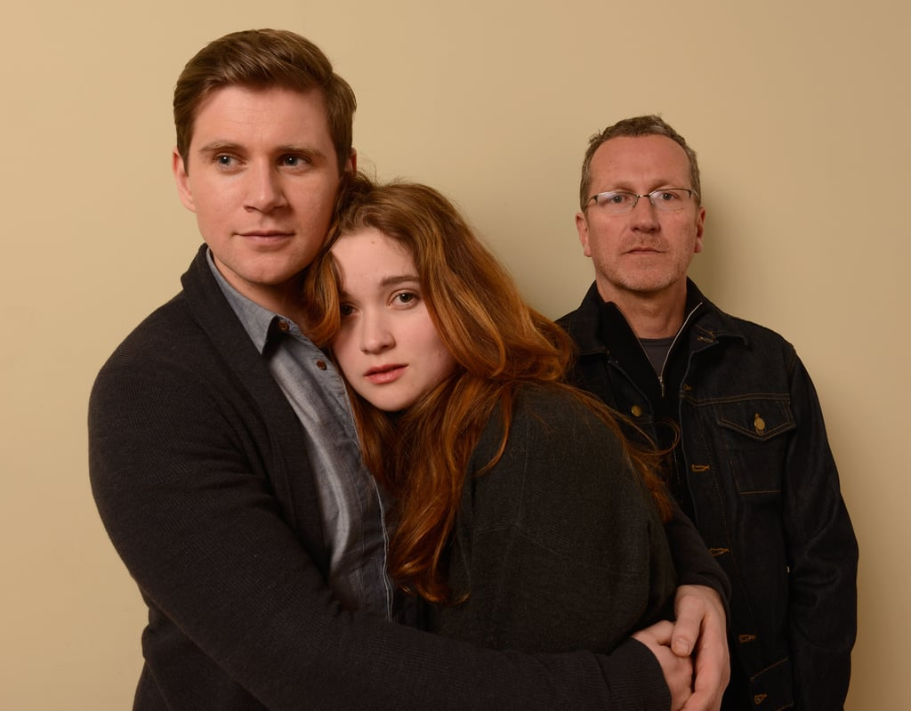 Aussie rising star Alice Englert cuddled up to her In Fear co-star Allen Leech (with director Jeremy Lovering behind them) at the Sundance Film Festival on Jan. 20.
