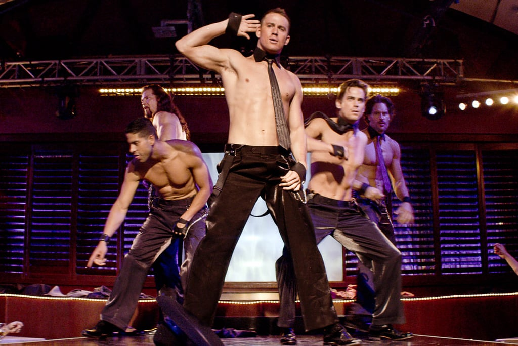 Channing went shirtless on stage in 2012's Magic Mike.