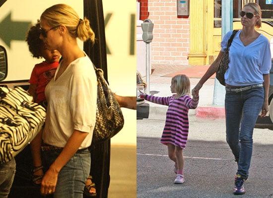 Photos of Heidi Klum Leaving a Medical Center With Leni Klum, Henry Samuel, and Johan Samuel