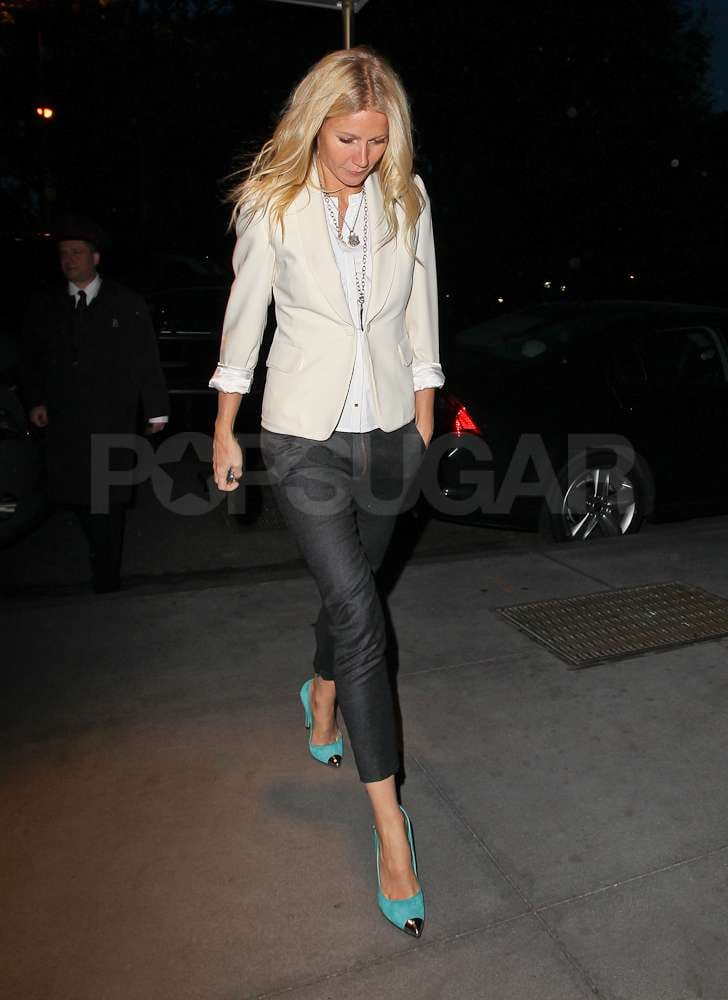 Gwyneth Paltrow wore some bold heels out in NYC.