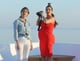 Kim and Kourtney Kardashian took pictures in Greece.