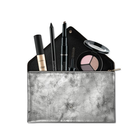 Glamorous makeup brush designs are Smashbox's forte. This holiday, the brand has created the All For Eyes Kit ($49) with a metallic clutch included. It's two gifts for the price of one.
