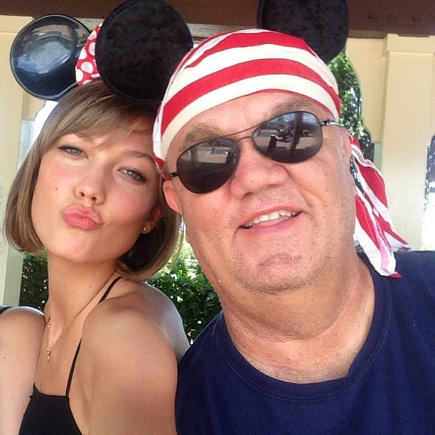 Karlie Kloss shared this adorable snap while celebrating her 21st birthday with her dad at Disneyland —so sweet! Source: Instagram user karliekloss
