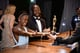Lupita Nyong'o got her best supporting actress statue engraved at the Governors Ball immediately after the show.