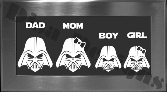 Disa Designs Darth Vader Family Vinyl Decals