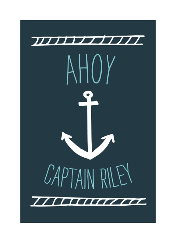 """Ahoy Matey"" by Shari Margolin ($15)"