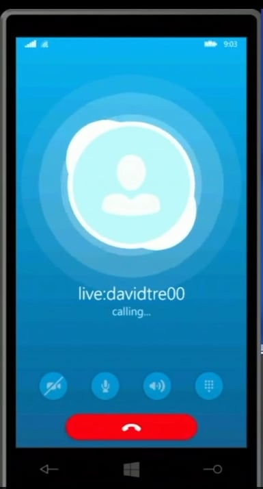 Skype directly from a call.