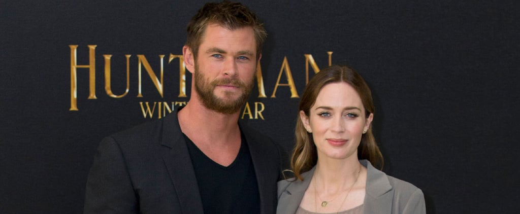 Emily Blunt's Baby Bump Is the True Star of This Red Carpet — Sorry, Chris Hemsworth