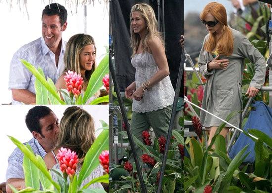 Pictures of Jennifer Aniston, Adam Sandler And Nicole Kidman Filming Just Go With It in Hawaii