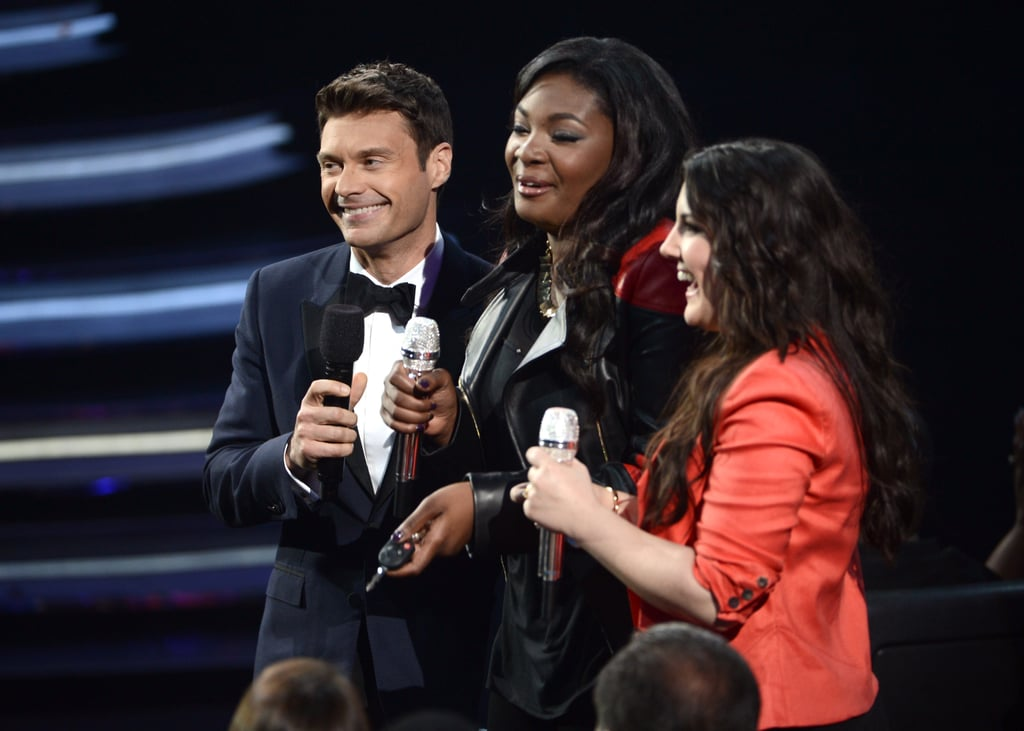Ryan Seacrest chatted with Candice Glover and Kree Harrison.