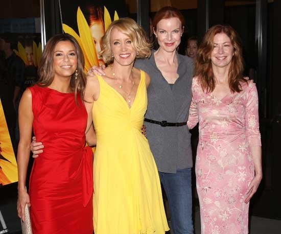 Photo of Eva Longoria, Felicity Huffman, Marcia Cross, and Dana Delany at the Phoebe in Wonderland Premiere