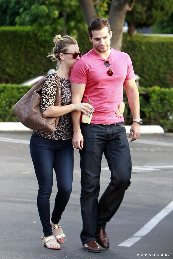 Henry Cavill and Kaley Cuoco showed PDA during an outing to a grocery store in LA but ended their relationship less than a week later.