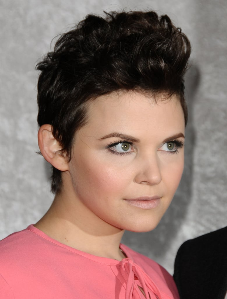 At the 2011 premiere of Big Love, Ginnifer wore a James Dean-esque coiffure, adding tons of height.