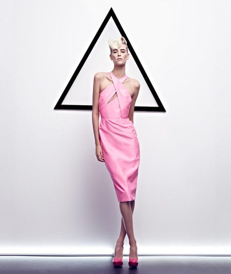 This girlie pink keyhole cutout dress from Cushnie et Ochs gives its Spring '12 ads a much-needed burst of color. Source: Fashion Gone Rogue