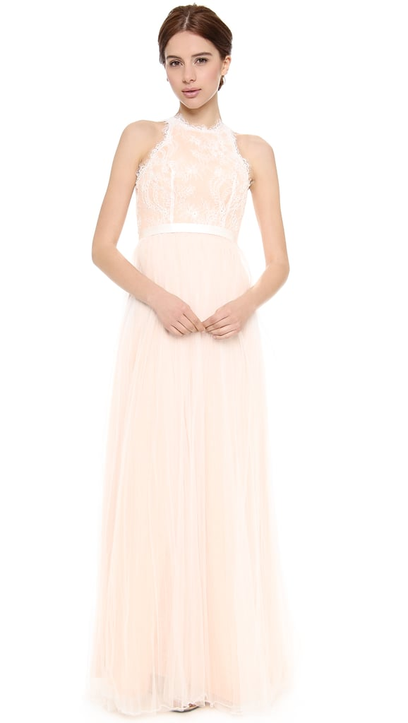 Love, Yu Fancy Pink Lace Gown ($1,850)