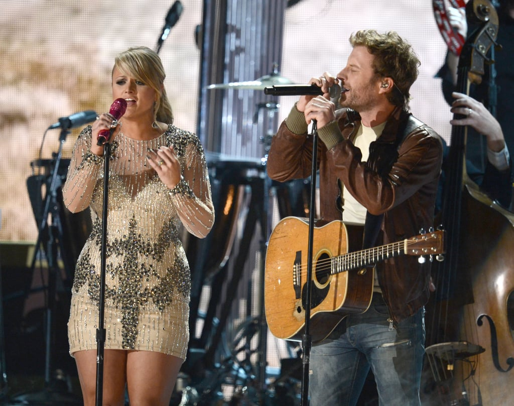 Dierks Bentley and Miranda Lambert took the stage together.