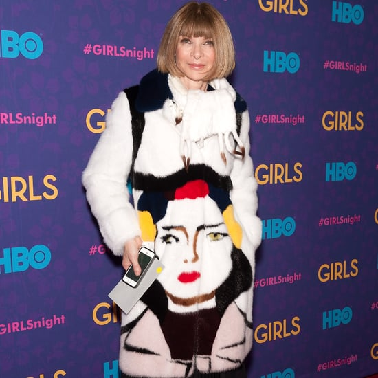 Anna Wintour in Prada Fur Coat at Girls Premiere