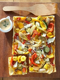 Fast & Easy Dinner: Roasted Squash and Pepper Tart