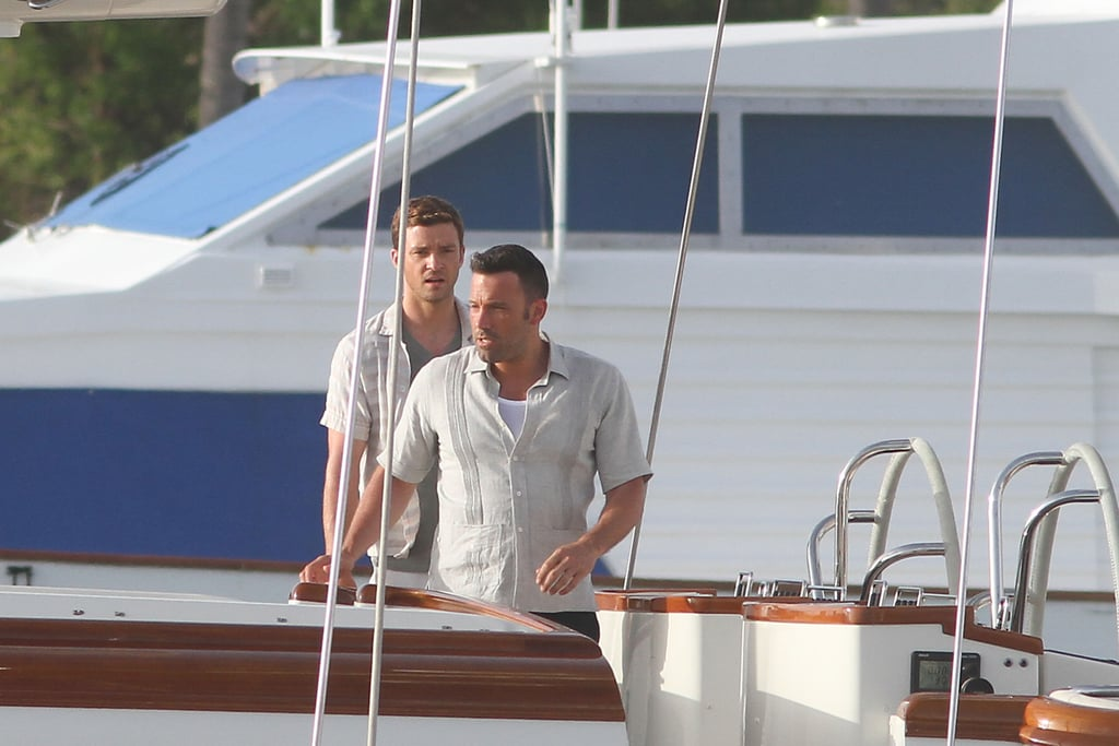 Ben Affleck teamed up with Justin Timberlake in July on the set of their film Runner, Runner in Puerto Rico.