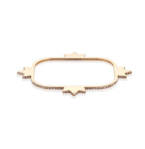 This Rebecca Minkoff Pave Bangle ($128, available online this Wednesday) is from the designer's debut jewelry collection. The crown detail and pave diamonds will make a fun and unique addition to my stacked bracelets. — Chi Diem Chau, associate editor