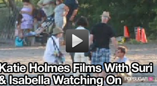 Video of Suri and Isabella Watching Katie Holmes Work On The Kennedys!