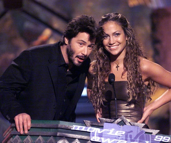 Keanu Reeves and Jennifer Lopez joined each other on stage in 1999.