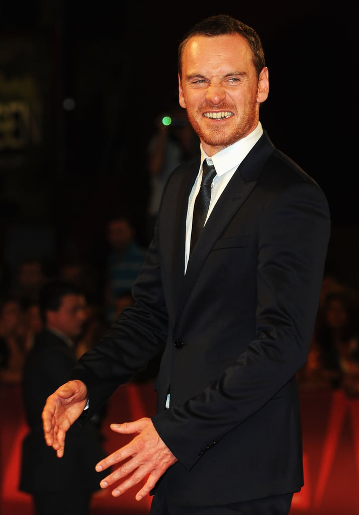 Michael Fassbender on the red carpet.