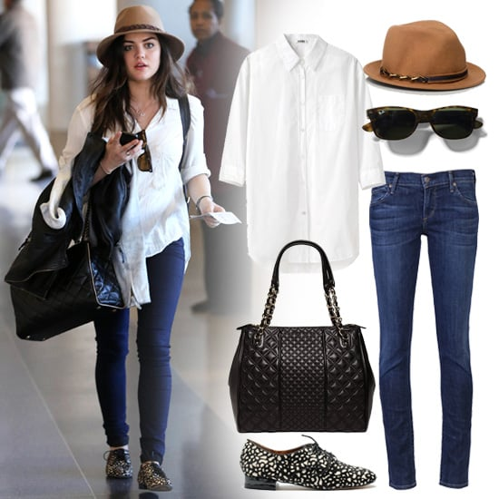 Lucy Hale's Outfit at LAX   Shopping