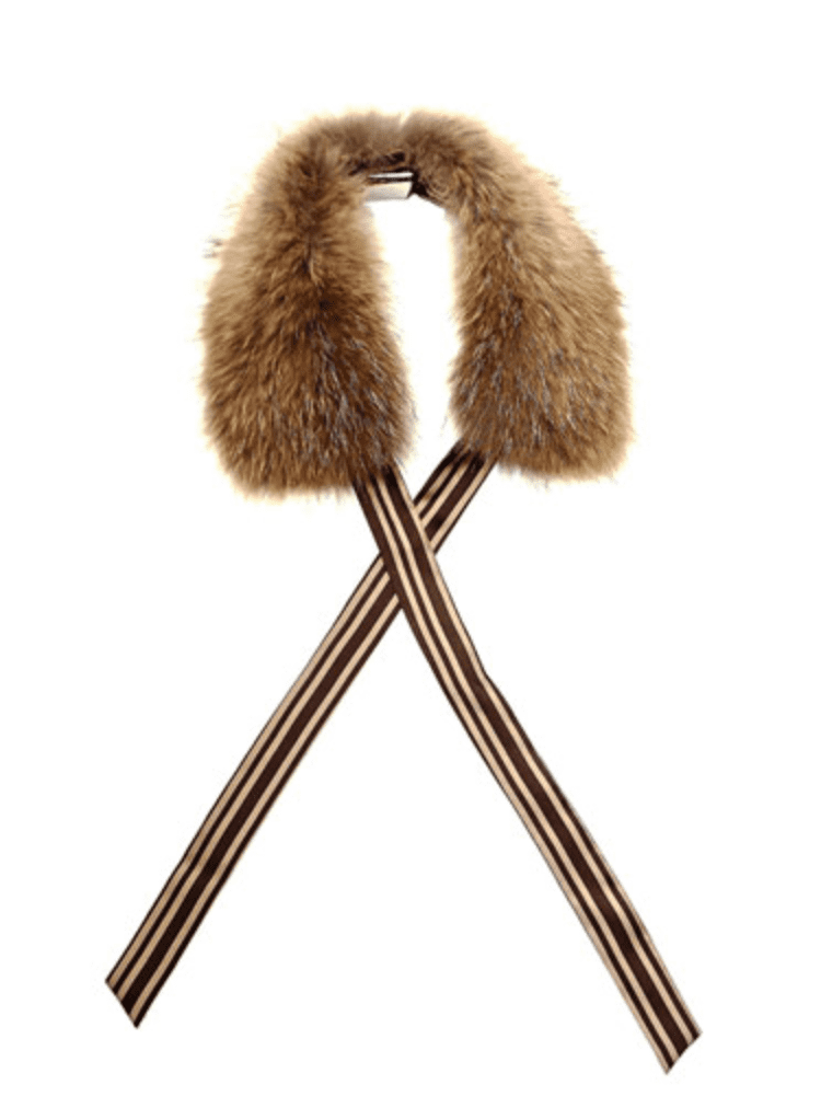 We like how the grosgrain ribbon adds a vintage twist to this Weekend by Maxmara Terry Fur Collar ($212).