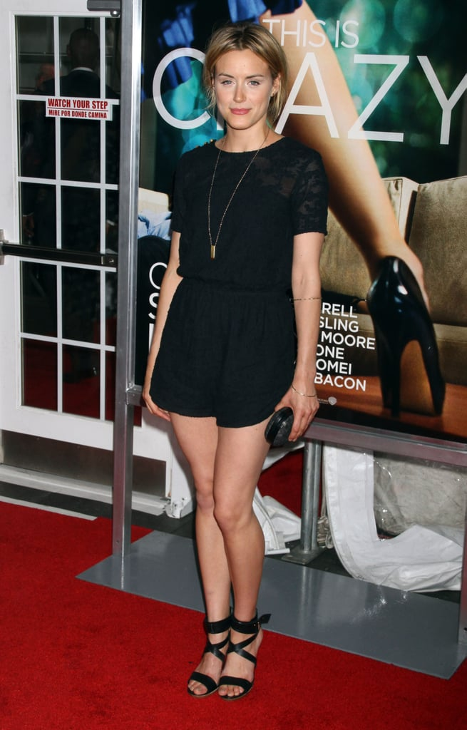 Taylor stepped out for Crazy, Stupid, Love's NYC premiere in 2011 in a black lace tee, sporty shorts, and a pair of strappy black heels.