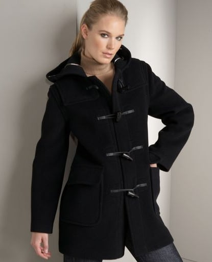 The Look For Less: Burberry Minstead Hooded Duffle Coat
