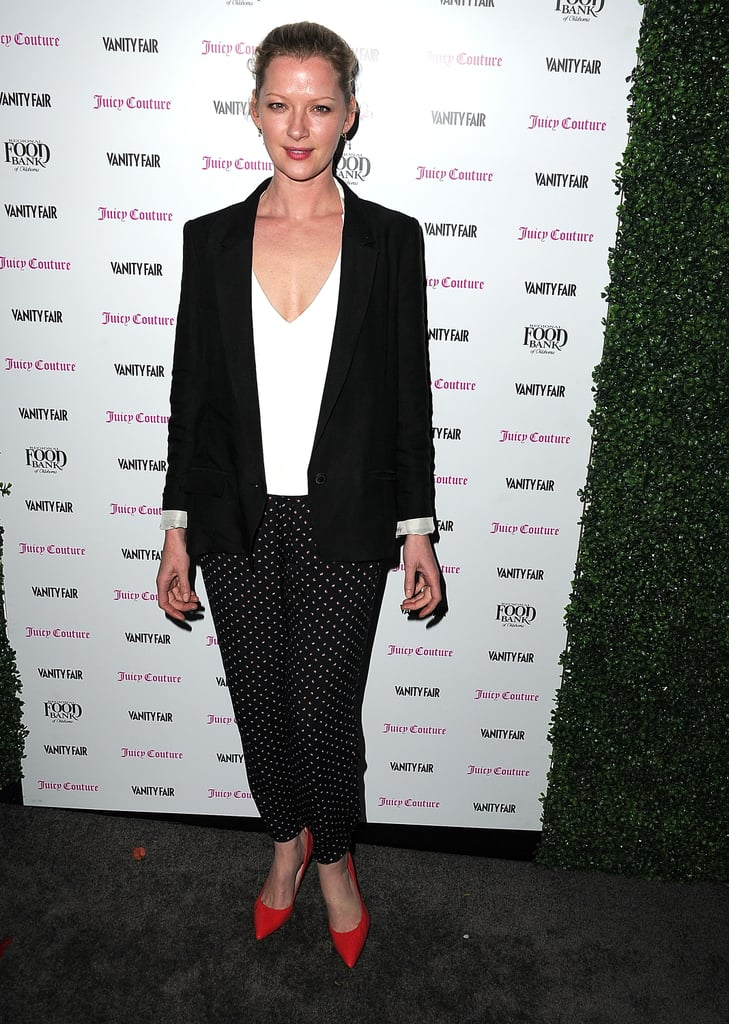Gretchen Mol went for a chic suit.