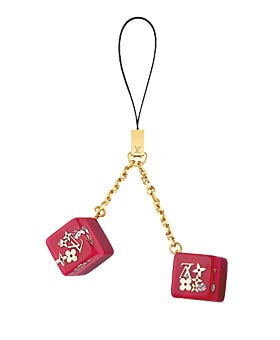 Totally Geeky or Geek Chic? Louis Vuitton Cell Phone Charm