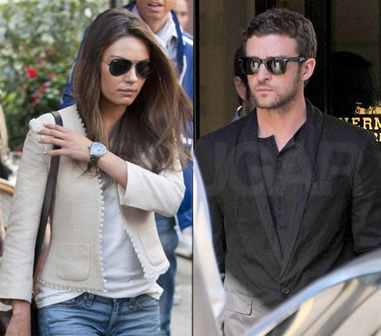 Mila and Justin Indulge in Some French Fashion