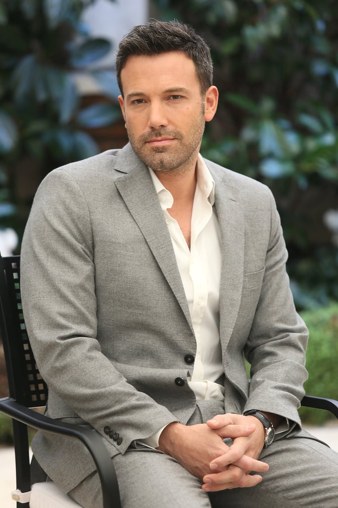 Ben Affleck was in Rome to promote Argo.