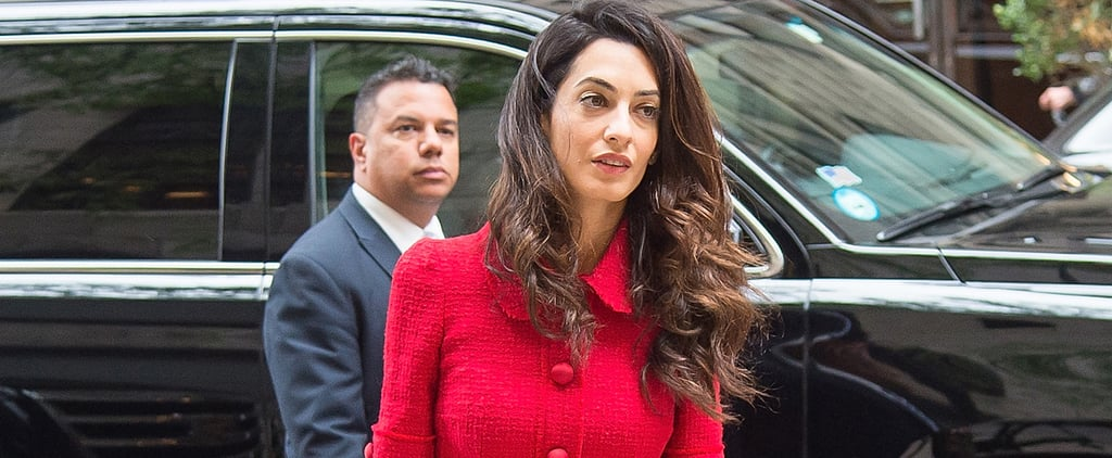 Amal Clooney Is Giving Us Serious Kate Middleton Vibes in Her Coat Dress