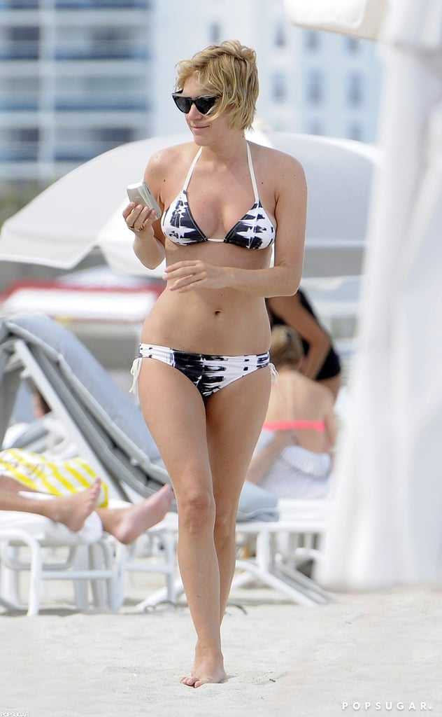 In April 2012, Chloë Sevigny heated up South Beach, Miami, in a black-and-white bikini.
