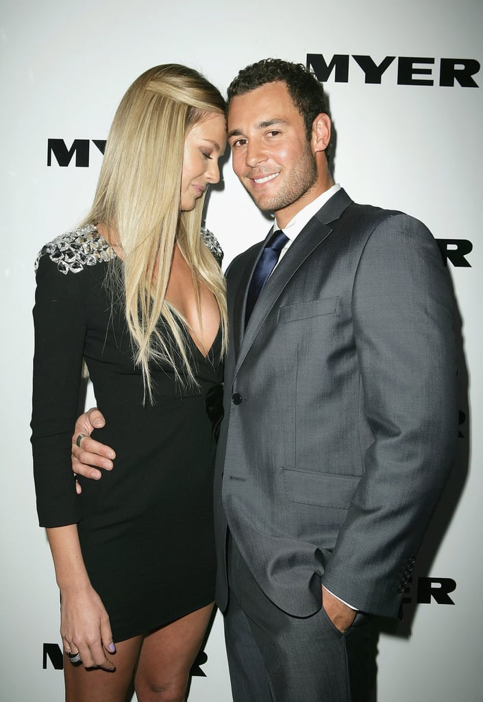Jennifer had Jake's support at the Myer Spring/Summer '09/'10 collection launch in Sydney in Aug. 2009.