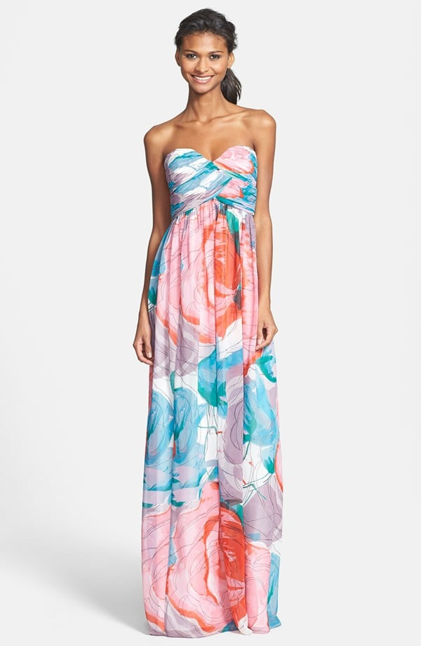 Donna Morgan Sweetheart Chiffon Gown
