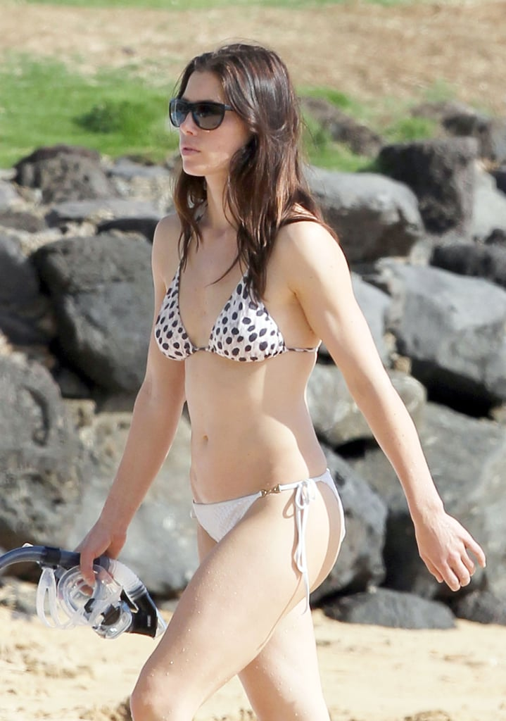 Jessica Biel wore a small two-piece in January 2011 on a Hawaiian beach.