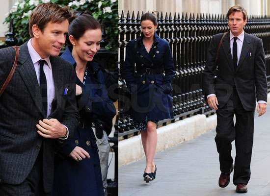 Pictures of Ewan McGregor and Emily Blunt Filming Salmon Fishing in the Yemen
