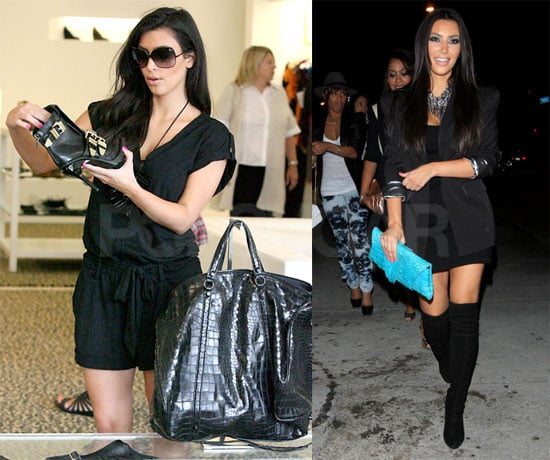 Photos of Kim Kardashian Shopping While News of Her Appearing on America's Next Top Model Hits