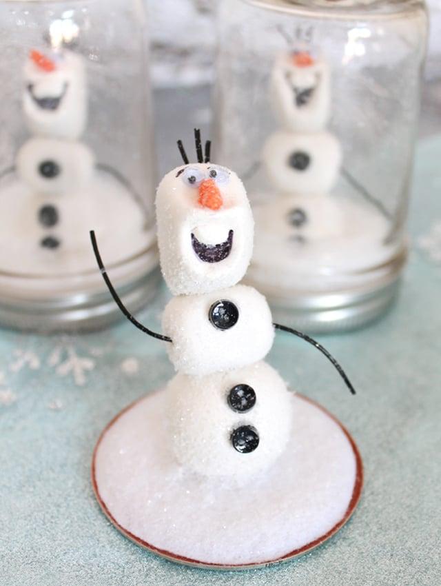 Olaf Mason Jar Snow Globes